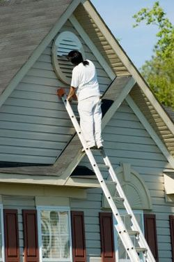 Exterior Painting being performed by an experienced Mario's Painting & Home Maintenance, LLC painter.