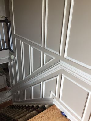 Action Shots and Finished Product of a High-end Hallway with Decorative Trim in Mars, PA (2)
