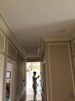 Action Shots and Finished Product of a High-end Hallway with Decorative Trim in Mars, PA (4)