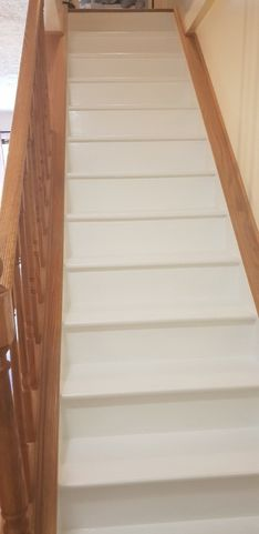 Before & After Painted Stairs in Seven Fields, PA (2)