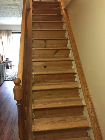 Before & After Painted Stairs in Seven Fields, PA (1)