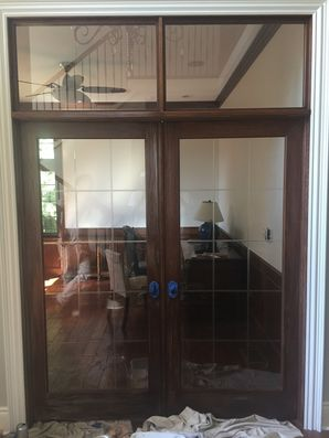 Office Doors went from Wood to White to Match the Trim in the Rest of the House in Wexford, PA (1)